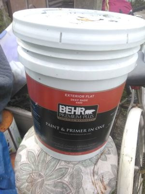 Exterior BLACK PAINT ALMOST 5GALLON for Sale in Tampa, FL