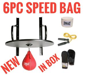 6PC EVERLAST SPEED BAG SET WITH GLOVES for Sale in Rancho Santa Margarita, CA