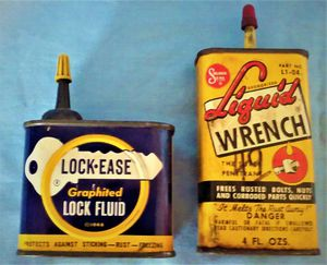 Lock-ease and Liquid Wrench tins- for Sale in Northfield, OH