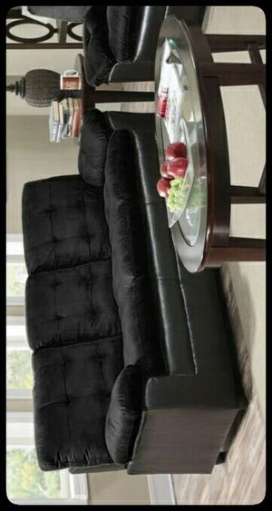 ✔Quality✔ Merdo Black Microfiber Sofa for Sale in Brentwood, MD