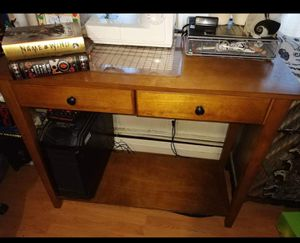 Wood table and one stool for Sale in Keyport, NJ