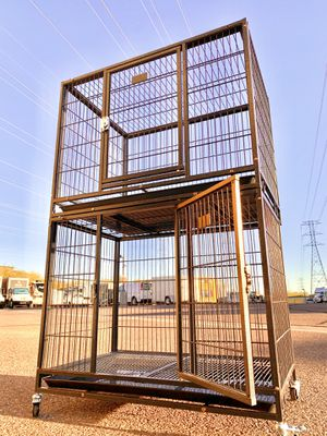 "New 2- Tier 37"" Heavy Duty Kennel w/ Durable Plastic Tray & Wheels, door lock 🐶 (37x23x30 each) for Sale in Mesa, AZ"