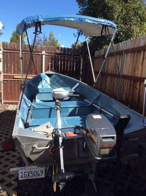 Klamath 12' aluminum boat, long Caulkins trailer for Sale in Roseville, CA