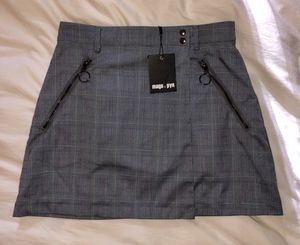 Mags & Pye LF Store Women's 12 Blue/Gray Plaid Asymmetric Wrap Skirt for Sale in Hollywood, FL