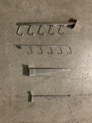 Slat Wall Shelving Brackets and Hooks for Sale in Hayward, CA