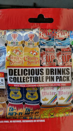 Disney delicious drinks mystery pins packs new 10$ for Sale in Pico Rivera, CA