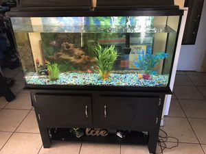 Large fish tank 60 gallons to be exact for Sale in San Diego, CA