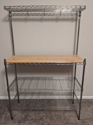 Bakers Kitchen Rack with Cutting Board Width: 36 in Depth: 14 in Height: 64.25 in for Sale in Elk Grove Village, IL