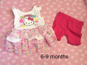 Baby girl hello kitty outfit shirt pants size 6-9 months for Sale in Elmont, NY