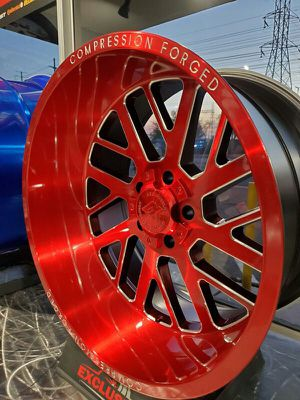 22x12 -44 Axe offroad red wheels 6x139 6x135 5x127 for jeep wrangler f15 Ford silverado 1500 Sierra New ram for Sale in Tempe, AZ