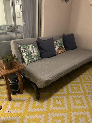 Grey futon couch for Sale in Davie, FL