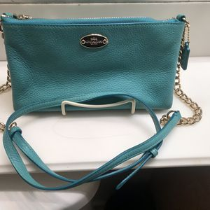Coach gold Chain Teal/green Crossbody for Sale in Walnut, CA