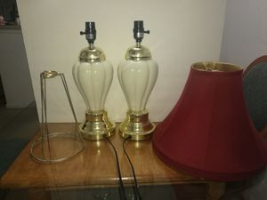 Ceramic Table Lamp Set for Sale in Silver Spring, MD