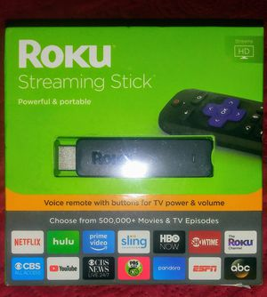 Roku Streaming Stick with Voice Remote with TV Power and Volume for Sale in Inglewood, CA