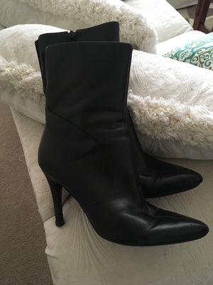 91f891806f38 Black spiked heel boots for Sale in Federal Way
