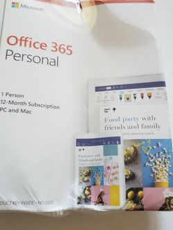 Office 365 Personal 12 month subscription by Microsoft for Sale in Los Angeles,  CA
