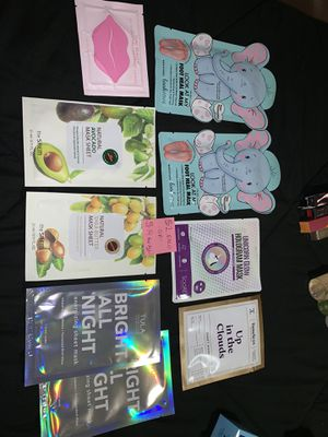 Face/foot mask sheet lot for Sale in Arlington, TX