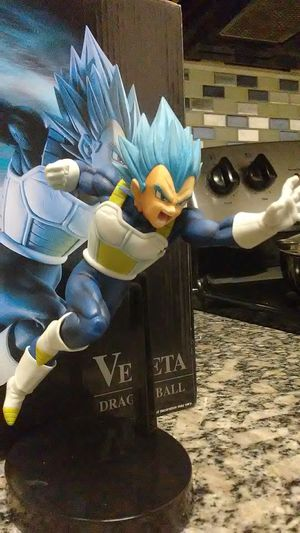 Dragon ball super super saiyan god super saiyan vegeta z battle figure blue evolution statue for Sale in Austin, TX