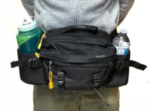 Brand NEW! Large Black Multipocket Waist Pack/Fanny Pack/Pouch For Outdoors/Work/Fishing/Biking/Camping/Sports/Gym/Everyday Use for Sale in Carson, CA