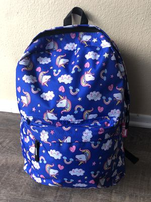 Large girl's blue unicorn backpack. New with tags! for Sale in Fontana, CA