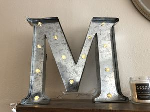 LED Light-Up Silver Metal Letter for Sale in Long Beach, CA