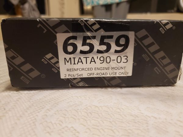 90-03 Mazda Miata Megan racing reinforced engine mounts 2pcs