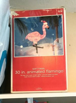 Animated Lighted Flamingo for Indoor Outdoor Electric Display for Sale in Pompano Beach, FL