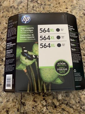 HP 564XL Black Ink (3 pack) for Sale in Meridian, ID