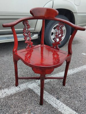 Rare vintage/antique Chinese rosewood carved chair for Sale in Austin, TX