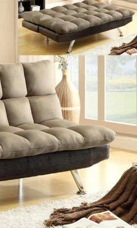 $39 DOWN❗BEST Deal 🛬 Sundown Espresso/Pebble Adjustable Futon Sofa 60 for Sale in Jessup, MD