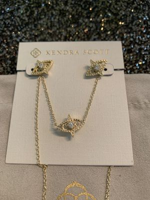 Kendra Scott Caleb earrings +necklace, NEW for Sale in Carrollton, TX