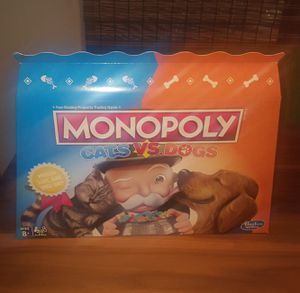 Monopoly Cats Vs. Dogs Board Game for Kids Ages 8 and Up for Sale in Gilbert, AZ