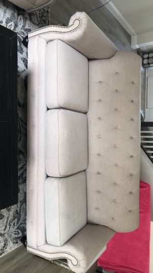 Baige couch and love seat excellent condition for Sale in St. Louis, MO