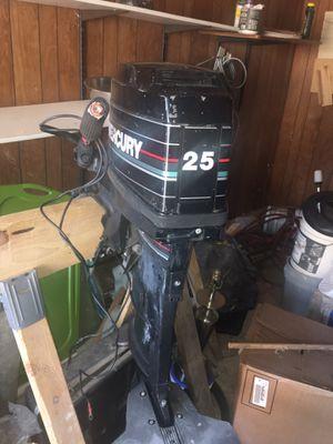 25 horsepower boat motor mercury for Sale in Midlothian, IL