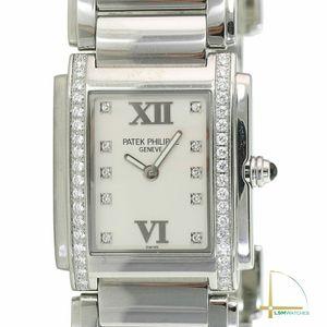 Patek Philippe Twenty-4 4910/10A-001 Steel Silver Diamond Dial & Bezel Watch for Sale in Los Angeles, CA