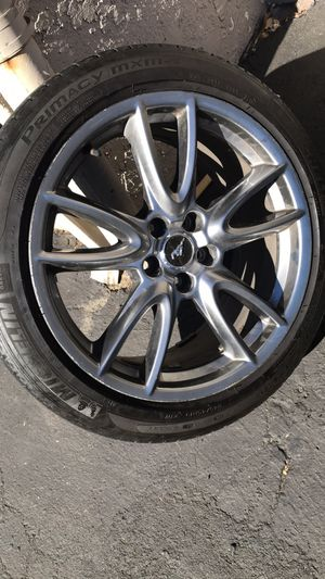 Mustang 19inch track edition rims for Sale in San Jose, CA