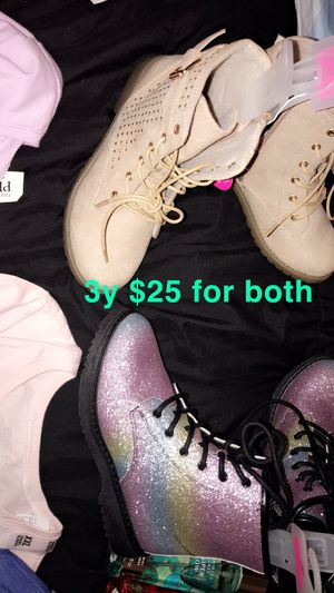 TWO BRAND NEW BOOTS SIZE 3 little girls $25 for both pick up Dickerson road for Sale in Nashville, TN