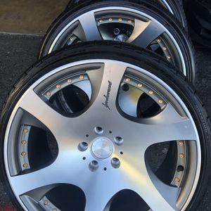 MRR Vip Wheels Tires 19x10,5 5x114.3 +15 Fit Honda Accord Civic Toyota Camry Infinity Lexus Mazda Scion Subaru for Sale in Santa Ana, CA