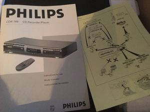 Philips CDR 765 Audio CD Recorder for Sale in Show Low, AZ