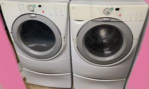 Whirlpool Washer & Dryer set on pedestals for Sale in Woodstock, GA