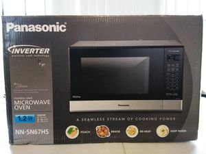 Panasonic 1.2 Cu.Ft. 1200 W Inverter Microwave Oven Stainless Steel NN-SN67HS for Sale in Detroit, MI