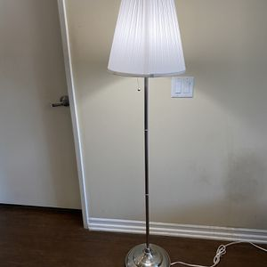 Floor lamp with LED bulb, nickel plated/white for Sale in Los Angeles, CA
