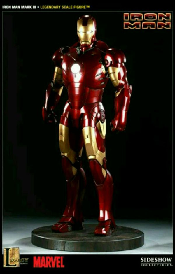Sideshow Collectibles Marvel Avengers Iron Man Mark III Legendary Scale Statue Maquette