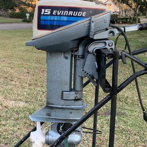 15 HP Evinrude Outboard Boat Motor Tiller Steer Johnson OMC BRP for Sale in Friendswood, TX