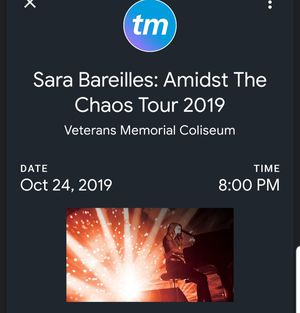 One Ticket for Sara Bareilles for Sale in Gresham, OR