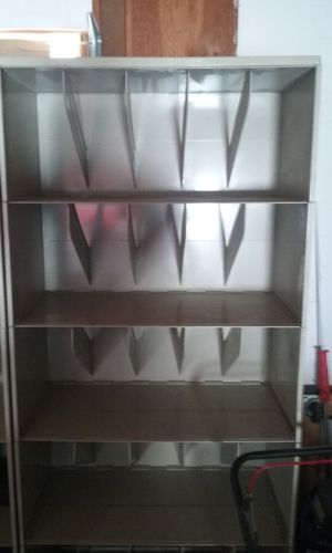 Medical file cabinet in picture is showing upside down but in very good condition solid metal for Sale in Las Vegas, NV