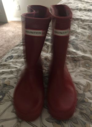 Red Hunter Rain boots size 10 kids for Sale in TX, US