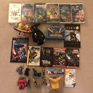 Toys vhs disney figures big hero 6 marvel books xmen disney movies videos tapes lunch boxes for Sale in Burtonsville, MD