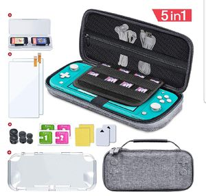 Case for Nintendo Switch Lite, 5 in 1 Hard Shell Travel Carrying Case Pouch w/ Switch Lite Screen Protector, TPU Cover, Game Card Case NEW IN BOX for Sale in San Diego, CA