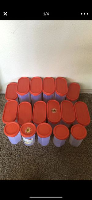 Food storage oval containers almost new all for 45$ only for Sale in Bellevue, WA